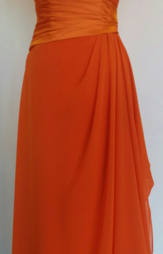 Bridesmaid orange dress