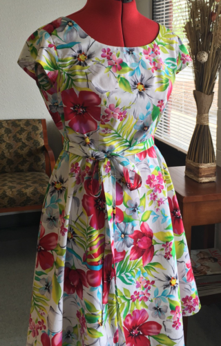 summer dress, custom sewing